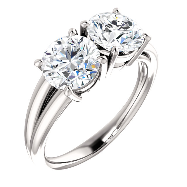 Engagement Rings No Stone: 2 Stone Ring Designer Colorado