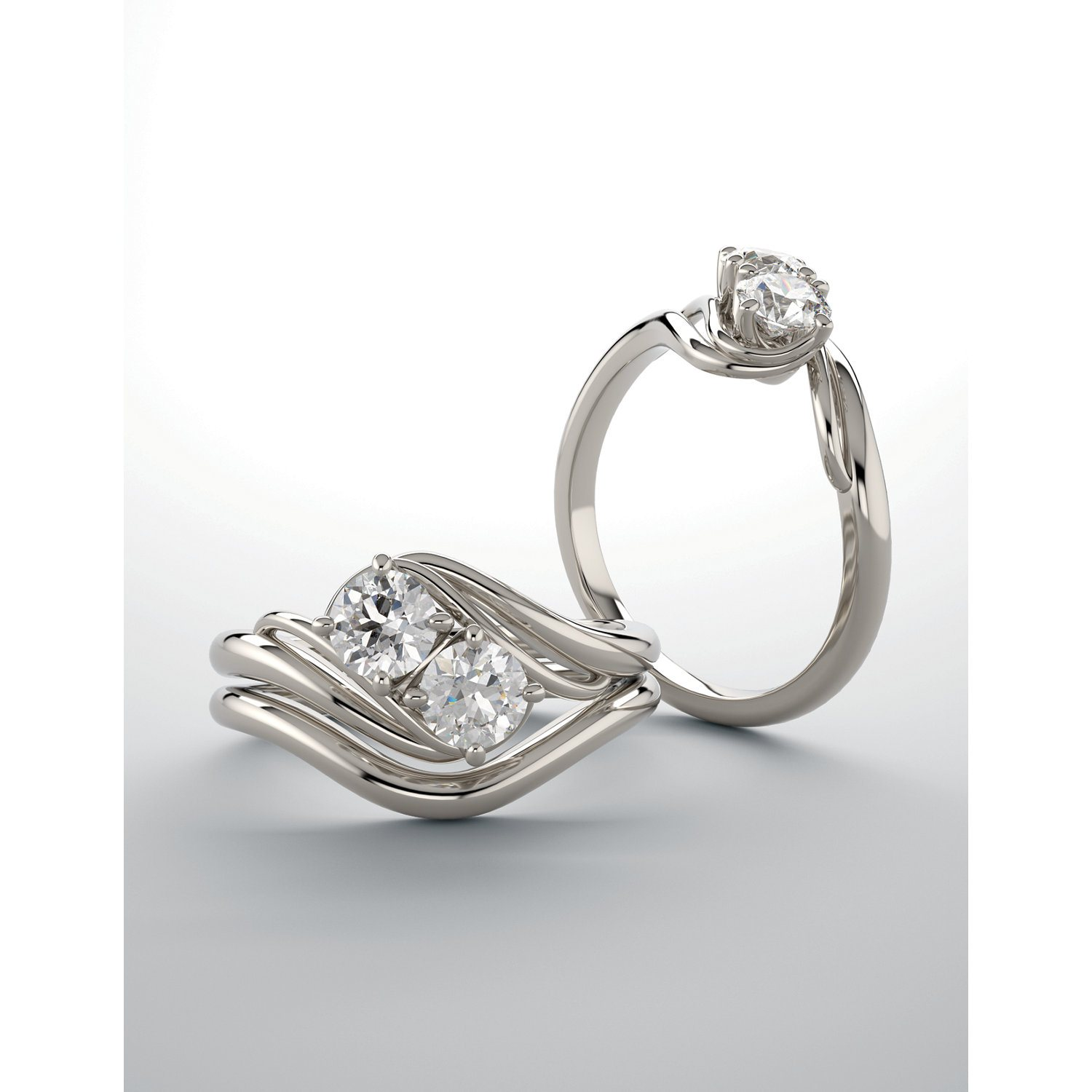 2 Stone Engagement Rings Design