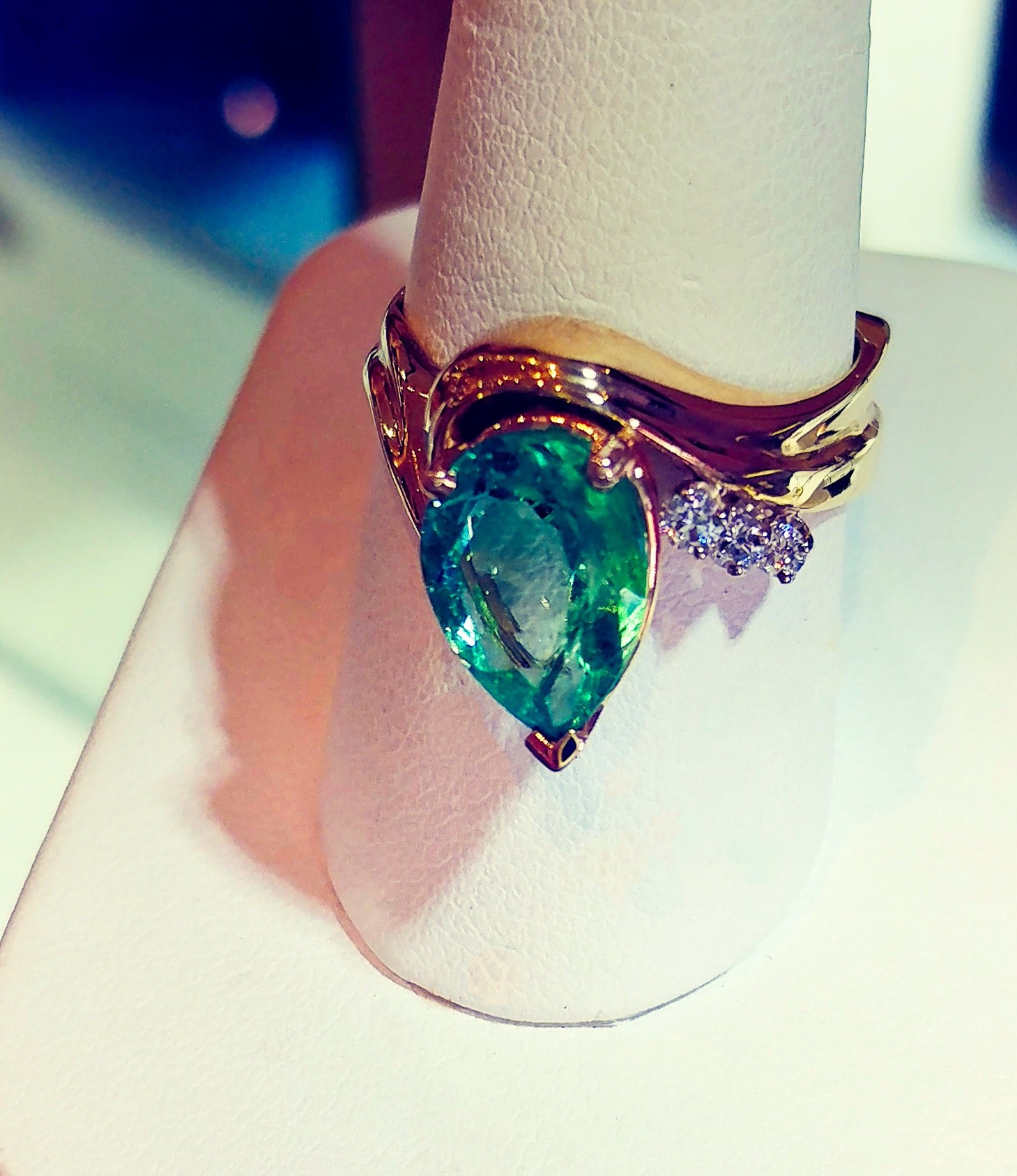 emerald diamond ring jack miller jewelry designers
