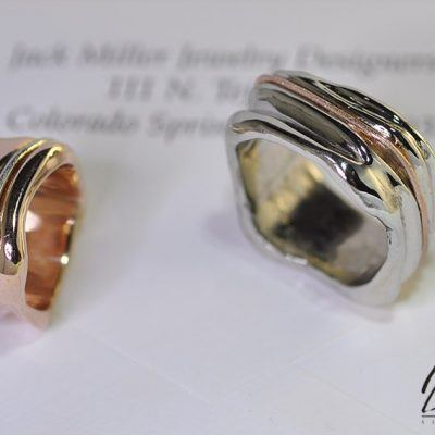 Crinkle Design Wedding Bands