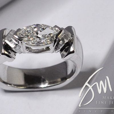 Custom Design Marquise Engagement Ring