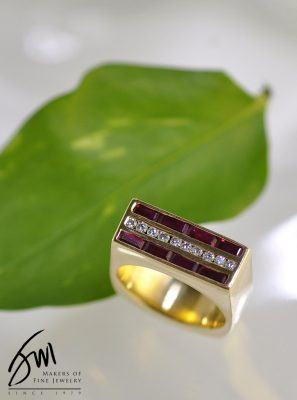 Ruby and Diamond Heavy Ring