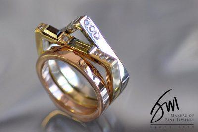 Three-Tone, Three-Style Ring