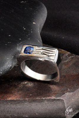 Custom Men's Sapphire Ring