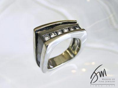 Jack Miller Men's Rhodium Ring