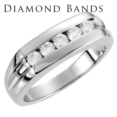 Diamond Men's Wedding Bands