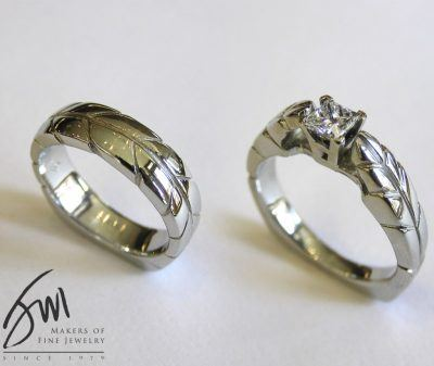 His and Hers Engagement and Wedding Rings