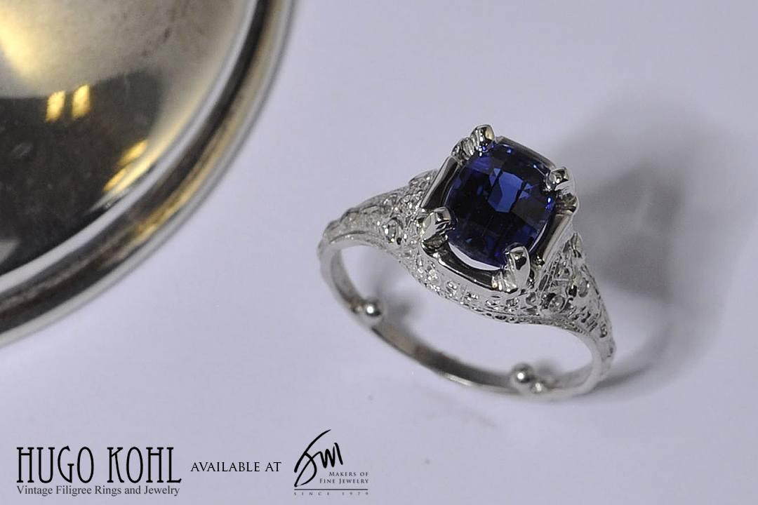 White gold engagement ring by hugo kohl jack miller for Kohls jewelry mens rings