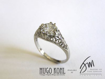 Hugo Kohl Vintage Filigree Ring
