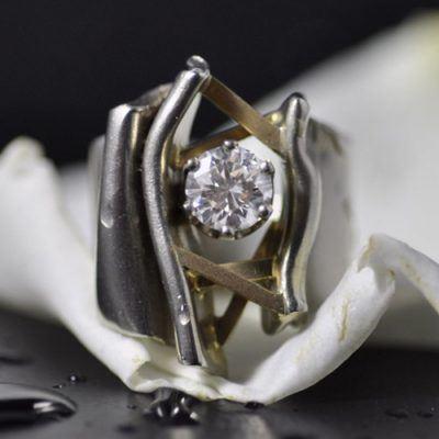 Jack Miller Designers Crinkle Engagement Ring