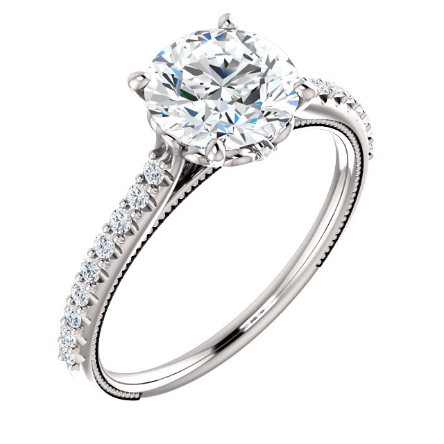 Diamond Accent Solitaire