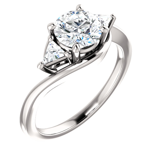 Triangle 3 Ring Engagement Ring