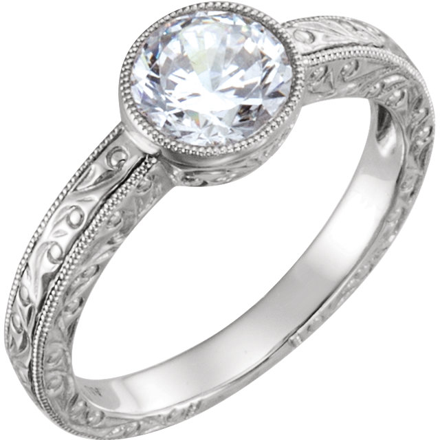 Bezel Vintage Style Engagement Ring