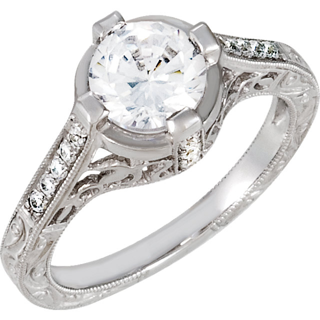 4 Prong Vintage Style Engagement Ring