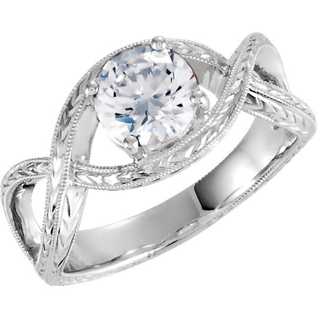 Twist Vintage Style Engagement Ring