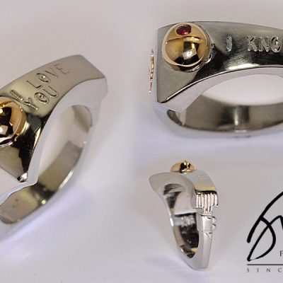 Custom Star Wars Wedding Bands